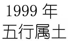 1999年五行属什么?1999年出生是什么命?