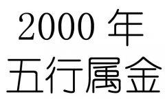 2000年五行属什么?2000年出生是什么命?