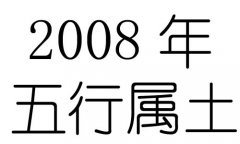2008年五行属什么?2008年出生是什么命?