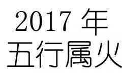 2017年五行属什么?2017年出生是什么命?