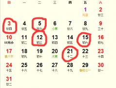 公历2016年1月份适合装修吉日