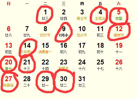 公历2016年3月份适合装修吉日