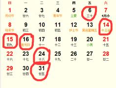 公历2016年5月份适合装修吉日