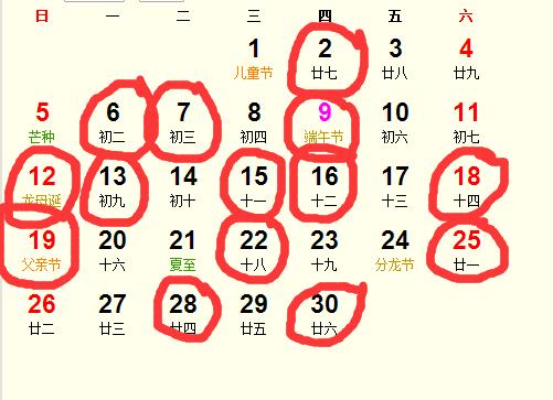 公历2016年6月份适合装修吉日