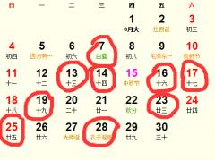 公历2016年9月份适合装修吉日